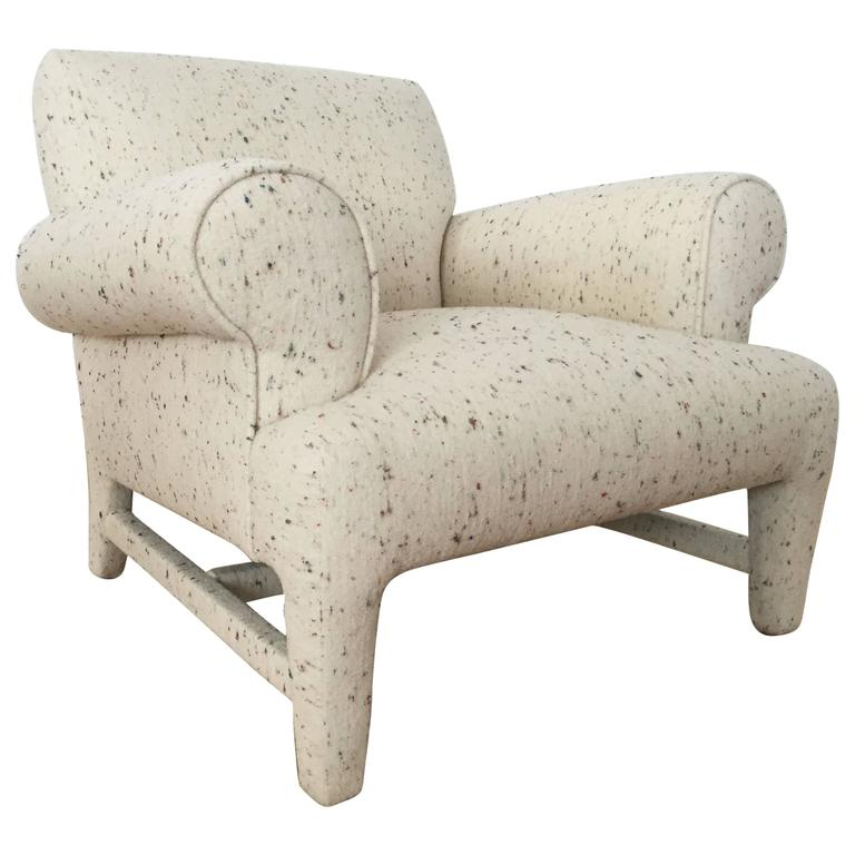 Fully upholstered post modern club chair at 1stdibs for Post modern chair