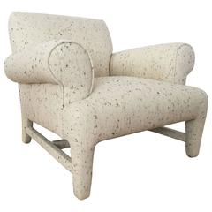 Fully Upholstered Post-Modern Club Chair