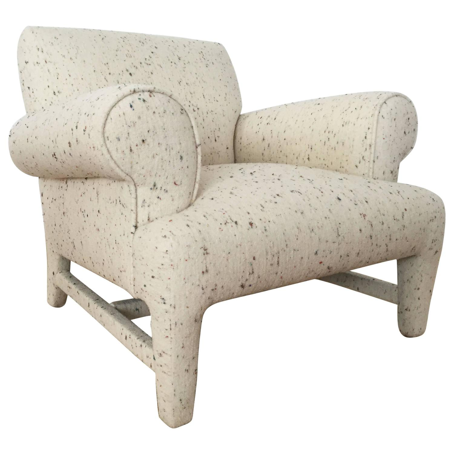 Fully upholstered post modern club chair for sale at 1stdibs for Post modern chair