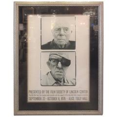 Large Framed Photo Poster of John Ford and Jean Renoir Signed Richard Avedon