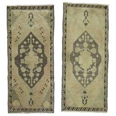 Pair of Vintage Turkish Rug Mats