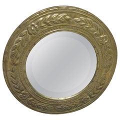 Round Metal-Clad Mirror