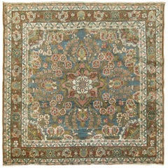 Antique Persian Meshed Square Rug