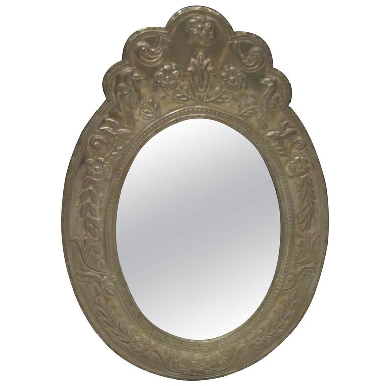Oval Mirror Clad Mirror For Sale