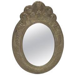 Oval Mirror Clad Mirror