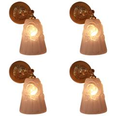 Set of Four Wall Sconces or Pendent Light by Degue