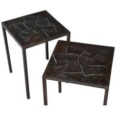 Pierre Sabatier Recto/Verso Pair of Side Tables