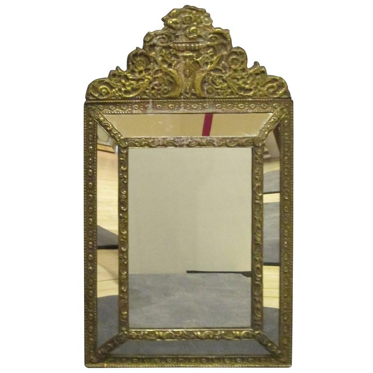 Brass Tin Frame with Mirrored Border 1