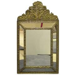 Brass Tin Frame with Mirrored Border