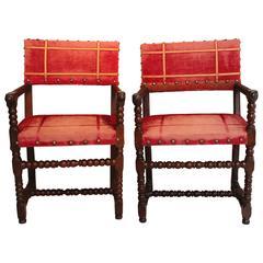 Pair of 19th Century Renaissance Armchairs