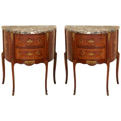Pair of 19th Century French Walnut Commodes