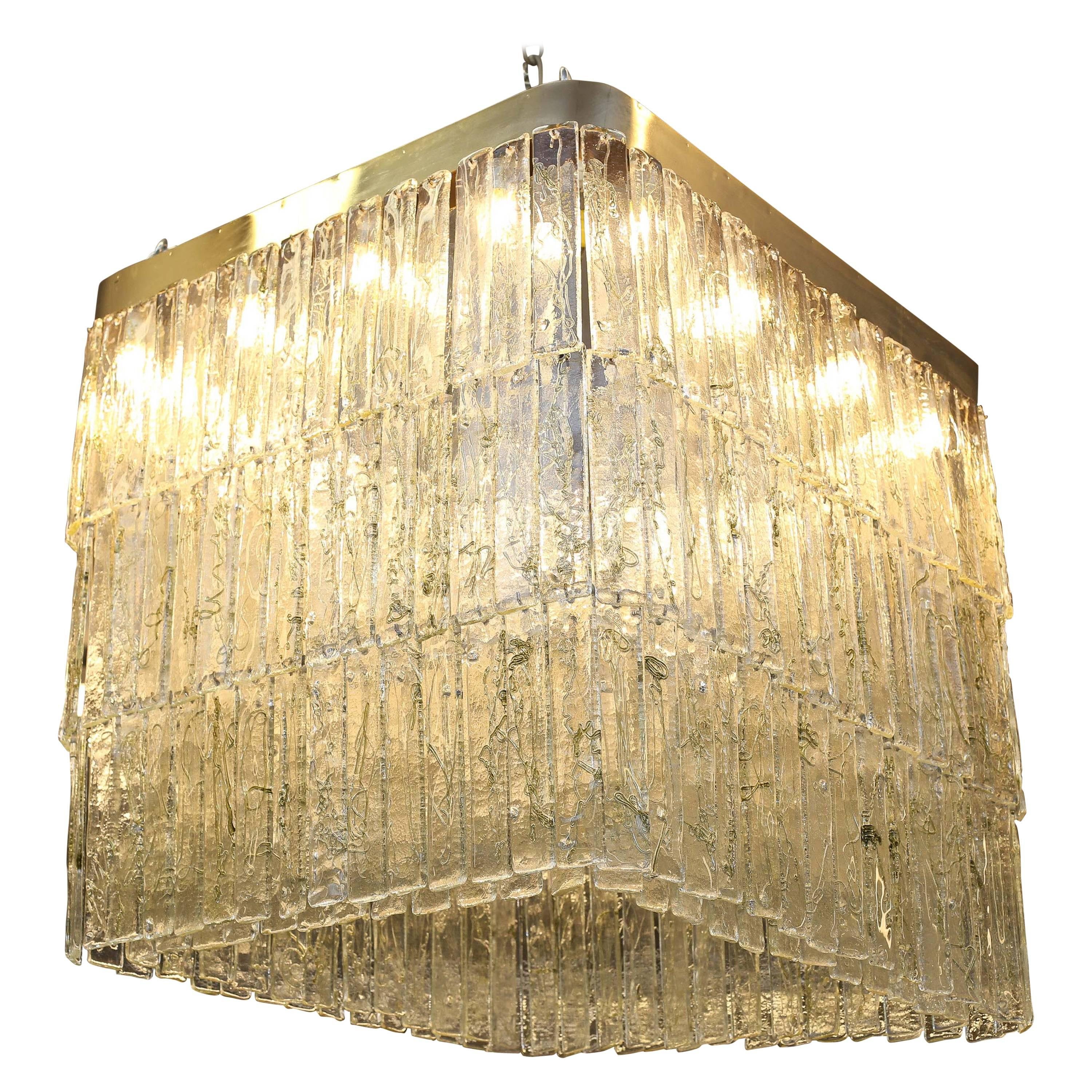 Grand Mid-Century Murano Chandelier Made by Mazzega