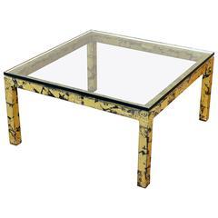 Mid-Century Modern Silas Seandel Textured Gilt Steel Coffee Table