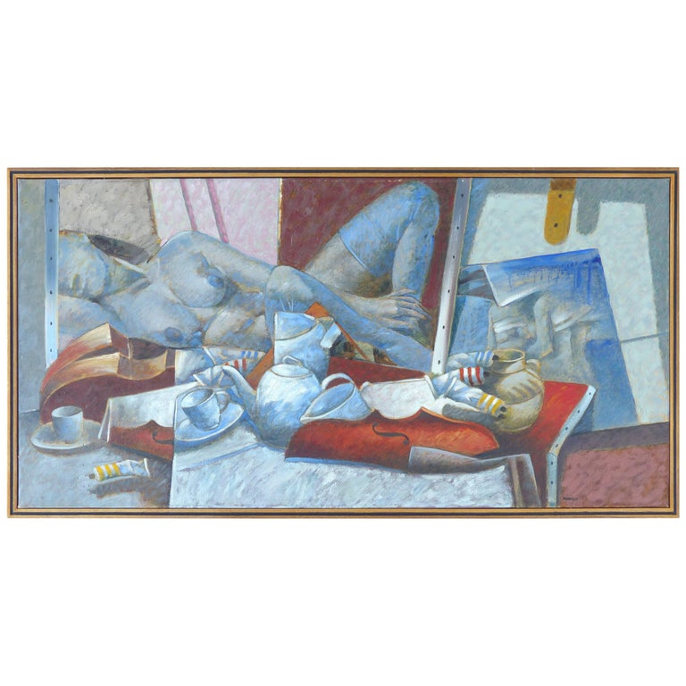 """Jesus Marcos Argentine Painting Titled """"Mesa Con Objetos"""" For Sale"""