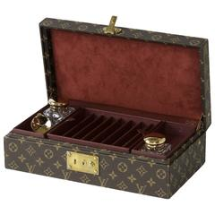 Louis Vuitton Writing Set with Two Crystal Inkwells