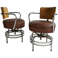 Art Deco Swivel Chairs