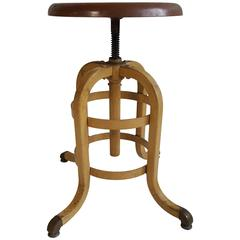 1930s, American Industrial Stool, A.S. Aloe Company
