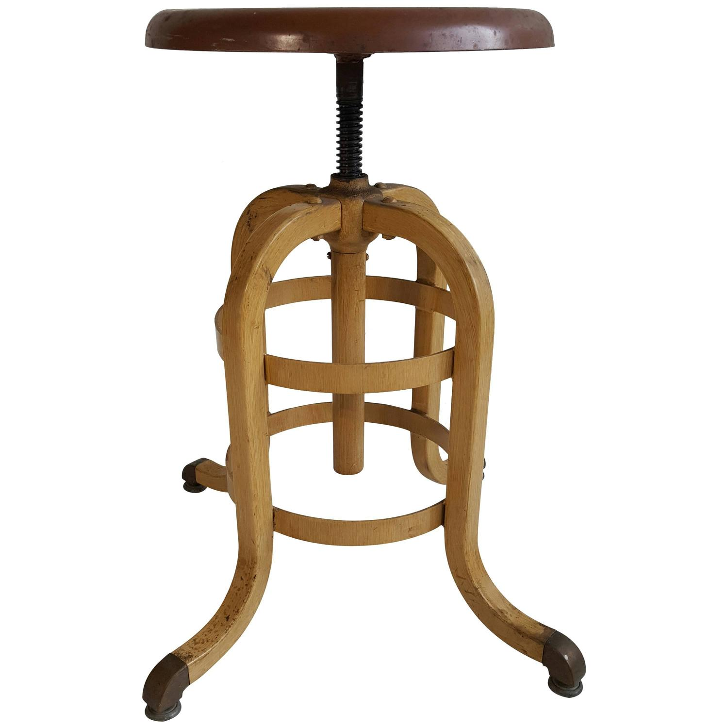 1930s American Industrial Stool A S Aloe Company For