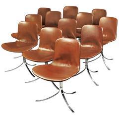 Poul Kjaerholm, Two Sets of Six PK9 Chairs, circa 1960