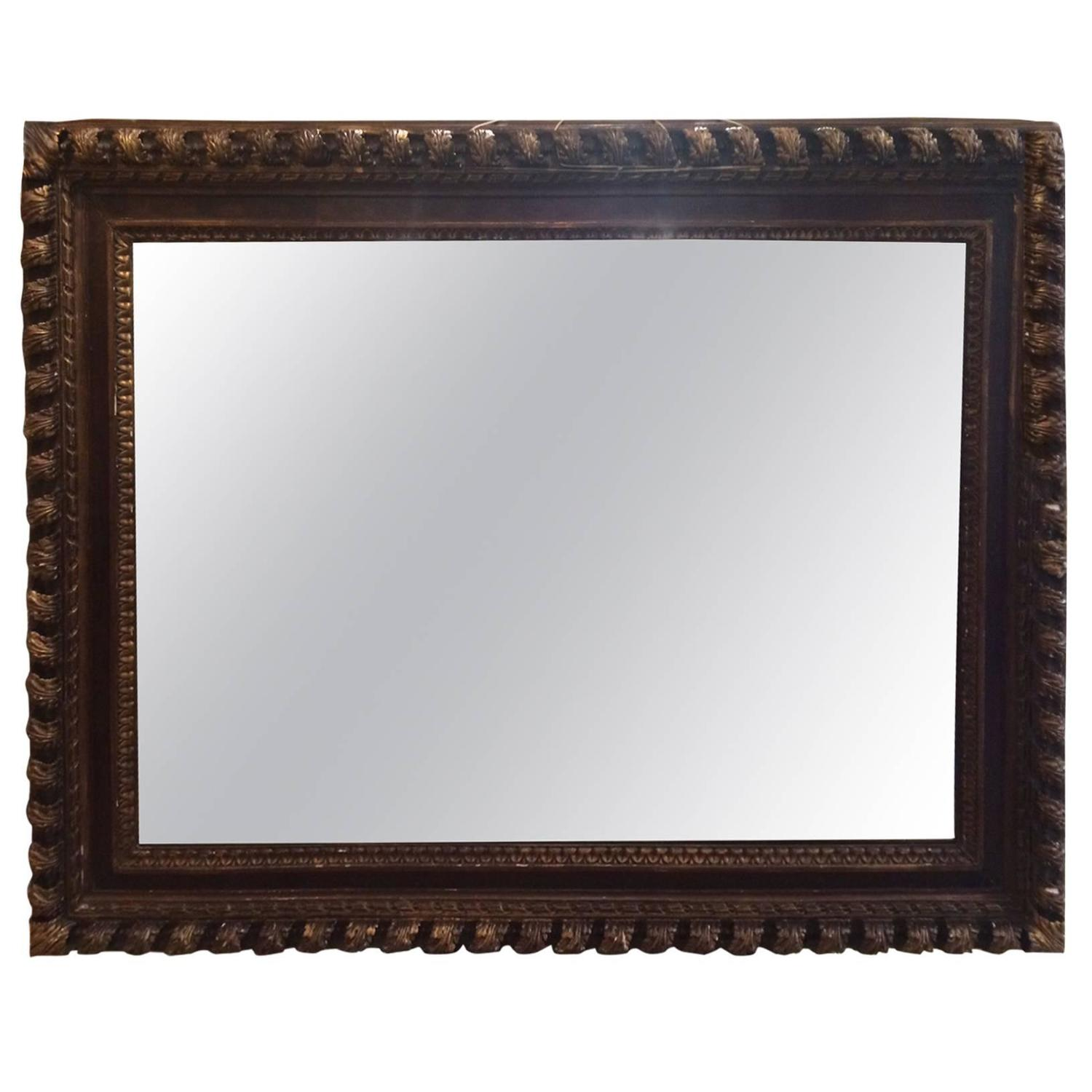 Large carved wood frame mirror for sale at 1stdibs Large wooden mirrors for sale