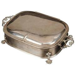 Arts and Crafts Silver Plated Jewelry Casket by W a S Benson