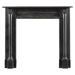 Antique Regency Period Fireplace in Black Marble