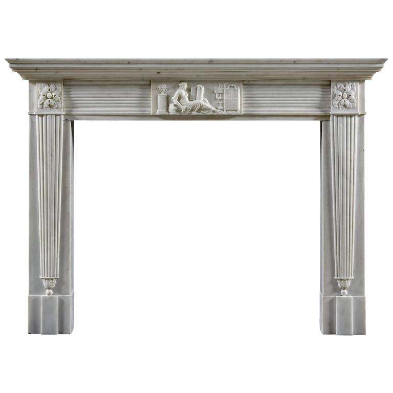 Antique Regency Neoclassical Fireplace Mantel