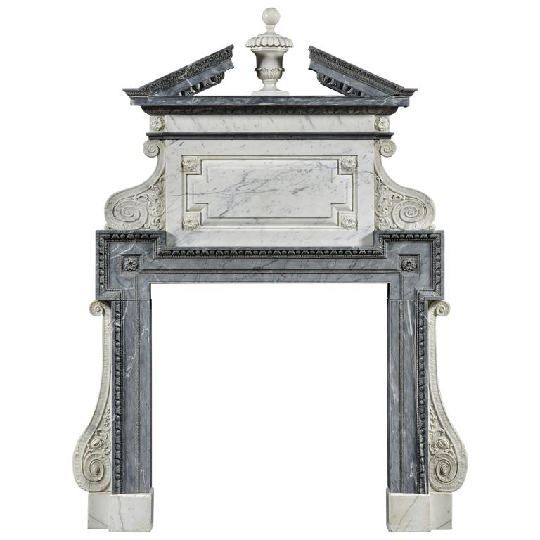 Exceptional English Fireplace with Overmantle 1