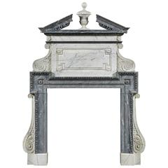 Exceptional English Fireplace with Overmantle