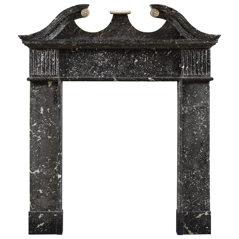 Antique Irish Fireplace Mantle in Mitchelstown Marble