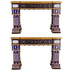 Pair of Italian 19th Century Neogothique Console Table