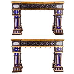 Pair of Italian 19th Century Neogothique Console Table