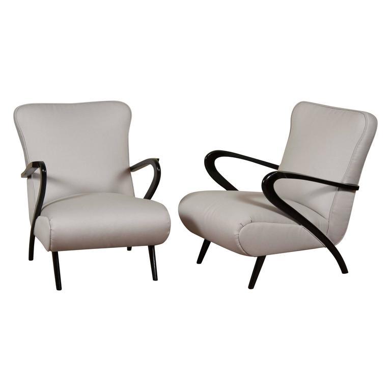 Pair of Halabala Inspired Armchairs