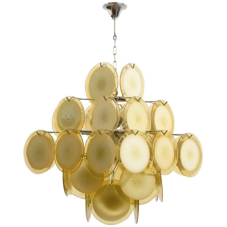 Large amber five tiered murano glass disc chandelier by vistosi at large amber five tiered murano glass disc chandelier by vistosi for sale aloadofball Image collections