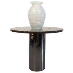 Stainless Steel and Granite Centre Table or Dining Table