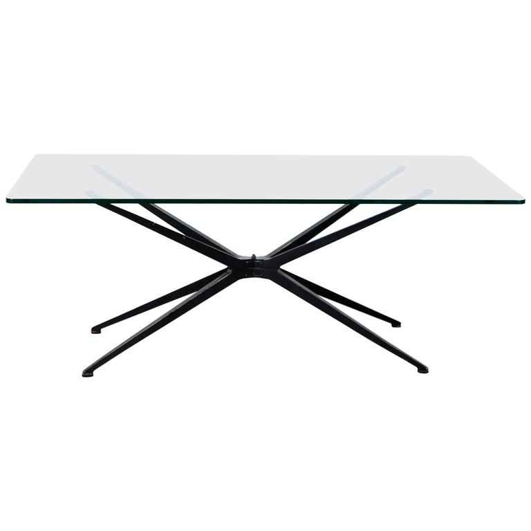 Glass Top Mid-Century Modern Coffee Table