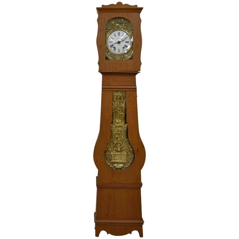 French Pine Longcase Clock 'Mock Clock'