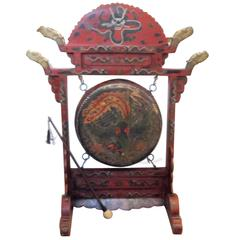 Large Antique Chinese Temple Gong