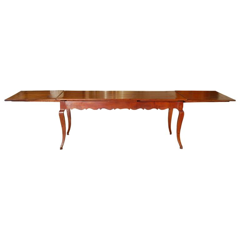 Cherry Extension Farm Table at 1stdibs
