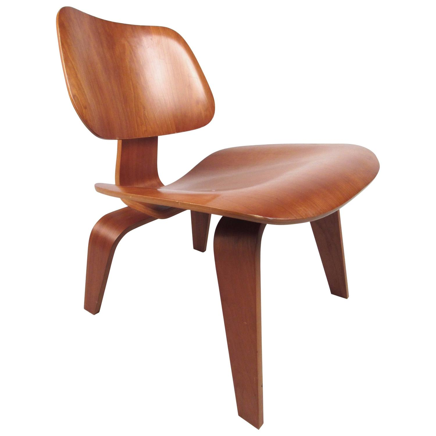 charles eames evans bent plywood herman miller dining chair  - charles eames plywood dcw side chair for herman miller