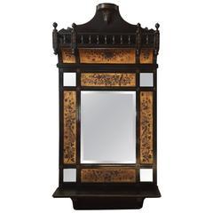 Charming 19th Century Mahogany Victorian Mirror