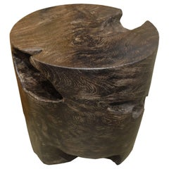 Andrianna Shamaris Single Burnt Teak Wood Side Table