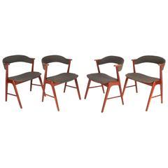 Set of Danish Teak Dining Chairs by Kai Kristiansen for Korup Stolefabrik