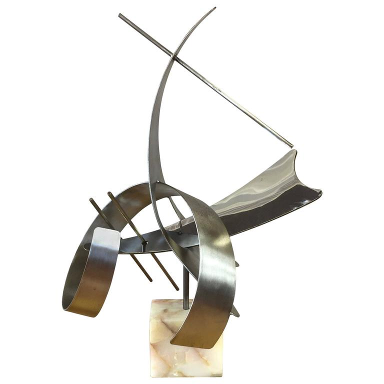 Monumental Abstract Steel Sculpture by Curtis Jeré