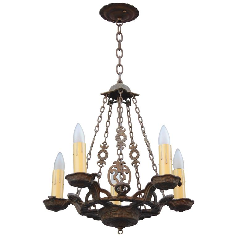 Spanish Revival 1920s Chandelier At 1stdibs