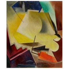 Fritz Pfeiffer Abstract Painting, 1946