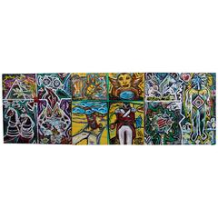 Nice Large Graffiti Triptych