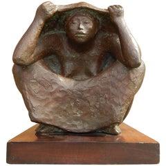 "Francisco Zuniga Bronze, 1965, Titled ""Ritual"""