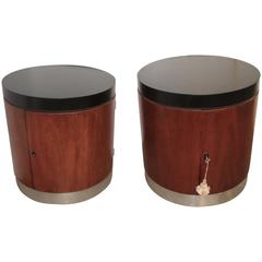 Pair of Polo by Ralph Lauren End Tables or Nightstands with Shelves
