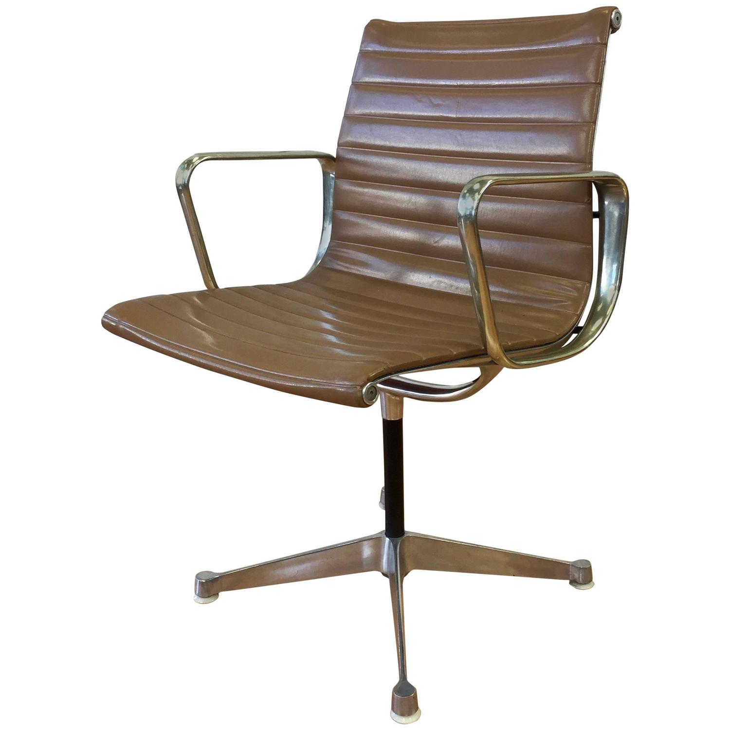 early eames aluminium group management chair by herman miller at 1stdibs